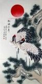 凌雪 四尺竖幅 国画工笔花鸟画《松鹤延年》7-9