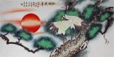 (已售)凌雪 四尺横幅 国画工笔花鸟画《松鹤延年》7-12
