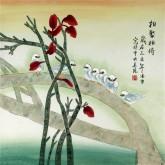 凌雪 四尺斗方 国画花鸟画《相聚相倚》7-2