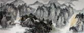 张铭宣 小六尺横幅 国画山水画《秦岭深处》