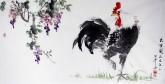 白洋 国画写意花鸟 三尺横幅《大吉图》
