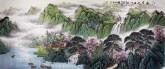 (预定)墨宇(周卡)小八尺横幅国画山水画《江南春晓》