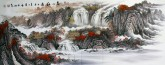 墨宇(周卡)国画山水画 小六尺 《万山红遍》