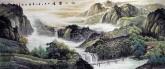 (预定)墨宇(周卡)小八尺 国画聚宝盆山水画,《江山览胜》
