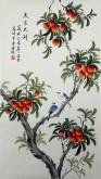凌雪 三尺竖幅 国画花鸟画《大吉大利》6-37