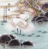 (已售)凌雪 四尺斗方 国画花鸟画《路路通》8-24