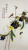 (已售)凌雪 三尺竖幅 国画花鸟画《福寿绵长》6-4