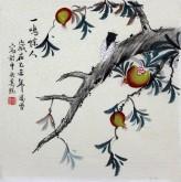 凌雪 三尺斗方 国画写意花鸟画《一鸣惊人》9-40