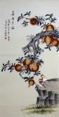 (预定)凌雪 四尺竖幅 国画工笔花鸟画《喜乐多福》11-13