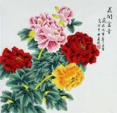 凌雪 四尺斗方 国画花鸟画《花开富贵》2-17