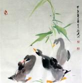 (已售)武文博 小品斗方 国画写意花鸟画 鸭子20