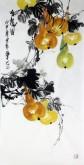 石云轩 国画写意花鸟画 三尺竖幅《有福图》葫芦