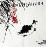 石云轩 国画写意花鸟画 三尺斗方《有余图》桂鱼富贵有鱼2-20