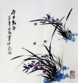 石云轩 国画写意花鸟画 三尺斗方《谷中幽香》兰花2-7