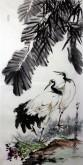 石云轩 国画写意花鸟画 三尺竖幅《仙鹤》4-1