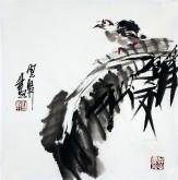 石云轩 国画写意花鸟画 小品斗方4-3小鸟35*35cm