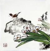石云轩 国画写意花鸟画 小品斗方4-7 《花鸟》35*35cm