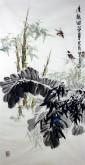 (已售)石云轩 国画写意花鸟画 四尺竖幅《清趣图》竹子竹笋5-11