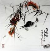 石云轩 国画写意花鸟画 四尺斗方《有余图》桂鱼5-1