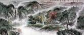 (已售)华卧石 国画山水画 小八尺《十里溪山最佳处 一年寒暖适中时》