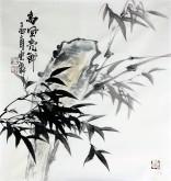 石云轩 国画写意花鸟画 三尺斗方《高风亮节》竹子12-23