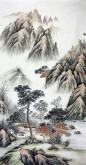 (已售)华卧石 国画山水画 四尺竖幅《睛川揽胜》