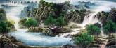 (预定)墨宇(周卡)小八尺 国画聚宝盆山水画《源远流长》