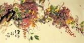 肖映梅(中国美协)国画花鸟画 四尺横幅《紫气东来》紫藤1