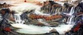 (预定)墨宇(周卡)小八尺 国画聚宝盆山水画《江山如画》