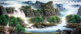 (已售)墨宇(周卡)小八尺横幅国画山水画《源远流长》