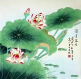 凌雪 四尺斗方 国画花鸟画《清香溢远》18-20工笔荷花