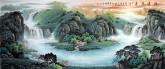 (预定)墨宇(周卡)国画聚宝盆山水画 小八尺横幅 2.4米《源远流长》