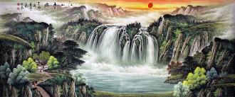 (预定)墨宇(周卡)国画聚宝盆山水画 小八尺横幅 2.4米《江山多娇》