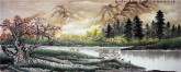 (已售)华卧石 国画山水画 小六尺横幅《笔下江山取意成 一峰未尽一峰生》