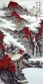 (已售)蓝国强 四尺竖幅 国画山水画《古赛泉韵》