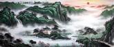 (已售)墨宇(周卡)国画聚宝盆山水画 小八尺横幅 2.4米《江山如画》2