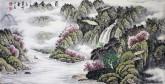 (已售)墨宇(周卡)国画山水画 四尺横幅 《蜀江春晓》