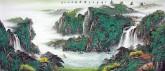 黄胜荣 国画聚宝盆山水画 小八尺横幅 2.4米《源远流长》