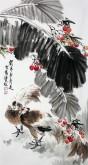石云轩 国画写意花鸟画 三尺竖幅《前程似锦》锦鸡7-9