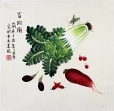 凌雪 三尺斗方 国画写意花鸟画《百财图》9-2白菜