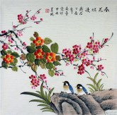 凌雪 四尺斗方 国画工笔画《春花烂漫》9-1