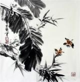 石云轩 国画写意花鸟画 三尺斗方《清趣图》9-3