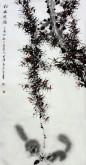 薛大庸(一级美术师)国画动物松鼠画 三尺竖幅《松林逸韵》9-3