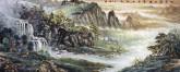 (已售)卢峰 国画风水聚宝盆山水画 小六尺《水穿盘石透 藤系古松生》