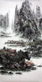 杨秀亮(吉林省美协)国画山水画 精品四尺竖幅《云峰耸翠》