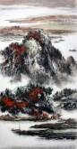 杨秀亮(吉林省美协) 国画山水画 精品四尺竖幅《金秋》