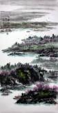 杨秀亮(吉林省美协) 国画山水画 精品四尺竖幅《江南诗意》