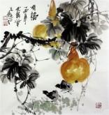 石云轩 国画写意花鸟画 三尺斗方《有福》葫芦10-7