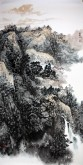 李尤(北京美协)国画山水画 四尺竖幅《山水画》