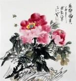 石云轩 国画写意花鸟画 三尺斗方《花开富贵》牡丹1-23
